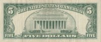 1963 $5.00 U.S. Note - Red Seal - Fine / Very Fine