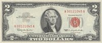 1963 $2.00 U.S. Note - Red Seal - About Uncirculated
