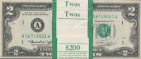 Pack of 100 Consecutive 1976 $2.00 Bicentennial Federal Reserve Notes - Crisp Uncirculated