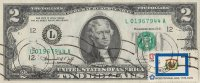 1976 $2.00 Federal Reserve Note - Double Postmarked 1st Day of Issue w/ 13c Stamp - Choice UNC