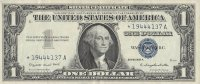 1957 $1.00 Silver Certificate - Star Note - Extremely Fine/About Uncirculated