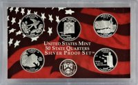 2008 U.S. State Quarter Silver Proof Coin Set