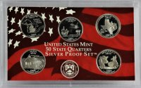 2004 U.S. State Quarter Silver Proof Coin Set