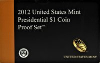 2012 U.S. Presidential Dollar Proof Coin Set