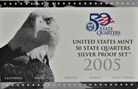 2005 U.S. State Quarter Silver Proof Coin Set