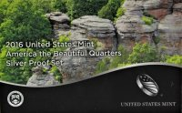 2016 America the Beautiful Silver Quarters Proof Coin Set