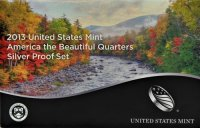 2013 America the Beautiful Silver Quarters Proof Coin Set