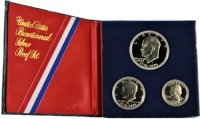 1976 U.S. Bicentennial 3-Piece Silver Proof Coin Set​