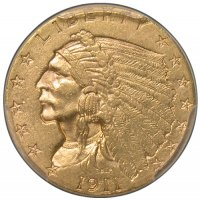 $2.50 Indian Quarter Eagle Gold Coins - Random Dates - AU
