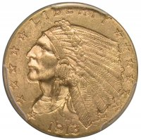 $2.50 Indian Quarter Eagle Gold Coins - Random Dates - BU