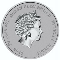 2020 1 oz James Bond Silver Coin - BU
