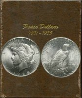 1921-1935 24-Coin Complete Set of Peace Silver Dollars - AU/BU