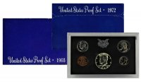 All 5 1968-1972 U.S. Proof Coin Sets