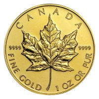 1 oz Canadian Gold Maple Leaf Coin - Random Date - BU