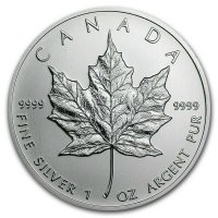 2000 1 oz Canadian Silver Maple Leaf Coin - BU (w/ Fireworks Privy)
