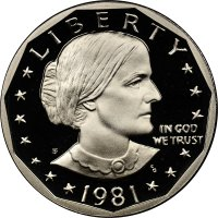 1981-S Susan B. Anthony Proof Dollar Coin - Type 1 - Choice PF