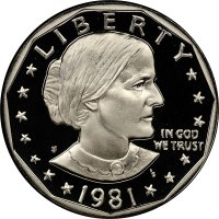 1981-S Susan B. Anthony Proof Dollar Coin - Type 2 - Choice PF
