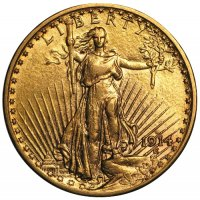 $20.00 Saint Gaudens Gold Double Eagle Coins - Random Dates - AU