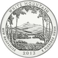 2013 5 oz ATB White Mountain Silver Coin - Gem BU (In Capsule)