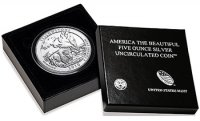 2010-P 5 oz Yellowstone ATB Silver Coin - Special Finish