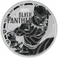 2018 1 oz Tuvalu Silver Marvel Series - Black Panther Coin - Gem BU