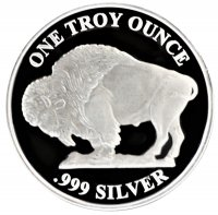 1 oz Silver Round - Buffalo Design