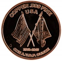 1 oz Copper Round - Civil War Series - Battle of Shiloh Design