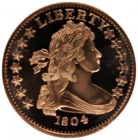 1 oz Copper Round - 1804 Dollar Design