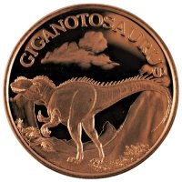 1 oz Copper Round - Dinosaur Series - Giganotosaurus Design