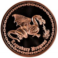 1 oz Copper Round - Dragon Design