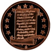 1 oz Copper Round - Pledge of Allegiance Design