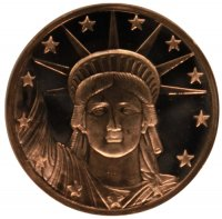 1 oz Copper Round - Statue of Liberty Design