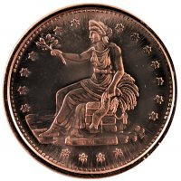 1 oz Copper Round - Trade Dollar Design