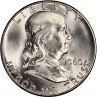 1960 Franklin Silver Half Dollar Coin - Choice BU