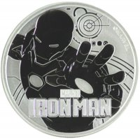 2018 1 oz Tuvalu Silver Marvel Series - Iron Man Coin - Gem BU