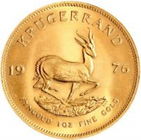 1 oz South African Gold Krugerrand Coin - Random Date - Gem BU