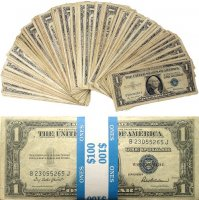 Pack Of 100 Mixed Silver Certificates - F-XF Condition!