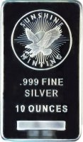 10 oz Silver Bar - Sunshine Minting - (Mint Mark SI™)