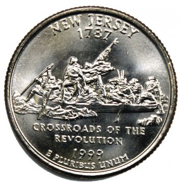 1999 New Jersey State Quarter Coin - P or D Mint - BU