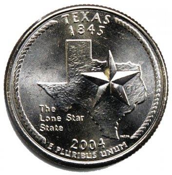2004 Texas State Quarter Coin - P or D Mint - BU