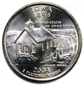 2004 Iowa State Quarter Coin - P or D Mint - BU