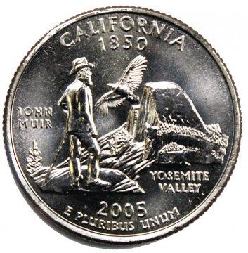 2005 California State Quarter Coin - P or D Mint - BU