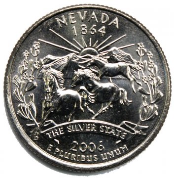 2006 Nevada State Quarter Coin - P or D Mint - BU