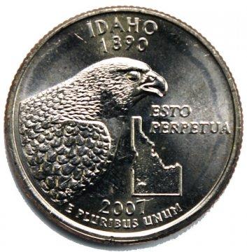 2007 Idaho State Quarter Coin - P or D Mint - BU