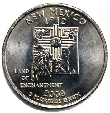 2008 New Mexico State Quarter Coin - P or D Mint - BU