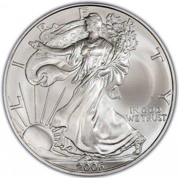 2006 1 oz American Silver Eagle Coin - Gem BU