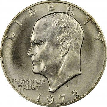 1973-S Eisenhower 40% Silver Dollar Coin - BU