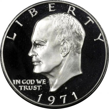 1971-S Eisenhower 40% Silver Dollar Coin - Proof