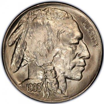 1938-D Buffalo Nickel Coin - Gem BU
