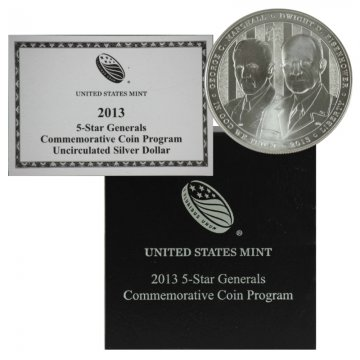 2013 5-Star Generals Commemorative Silver Dollar Coin (UNC)